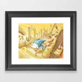 Starring Sonic and Miles 'Tails' Prower (Yellow Version) Framed Art Print