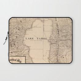 Vintage Map of Lake Tahoe Calfornia (1874) Laptop Sleeve