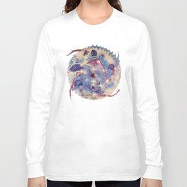 Spiral Stare Face Long Sleeve T-shirt