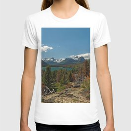Images USA Saint Mary Glacier NP Nature Spruce Autumn mountain park Lake landscape photography Mountains Parks Scenery T-shirt