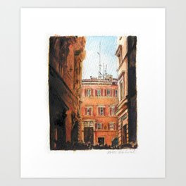 Italy in Yellow Art Print