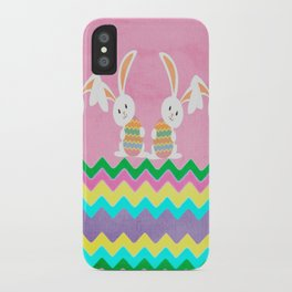 Easter Chevron Pattern iPhone Case