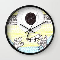 minion Wall Clocks featuring minion by di yirou