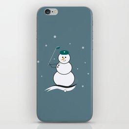 Golfing Snowman iPhone Skin