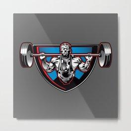 Bodybuilder illustration Metal Print
