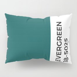 Evergreen • Paint Chip • Pantone Inspired • Cool Tones • Fresh • Forest Pillow Sham