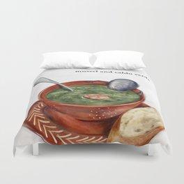 La Cuisine Fusion - Mussels with Caldo Verde Duvet Cover