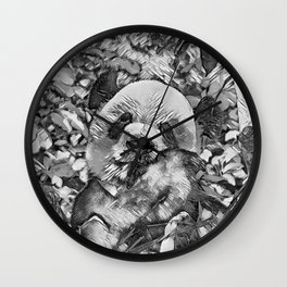 AnimalArtBW_Panda_20170812_by_JAMColorsSpecial Wall Clock