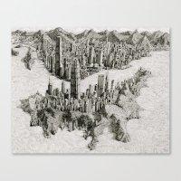 hong kong Canvas Prints featuring Hong Kong by BenSack