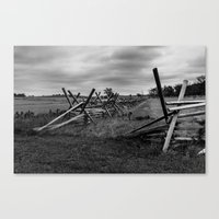 battlefield Canvas Prints featuring Gettysburg Battlefield by Chee Sim