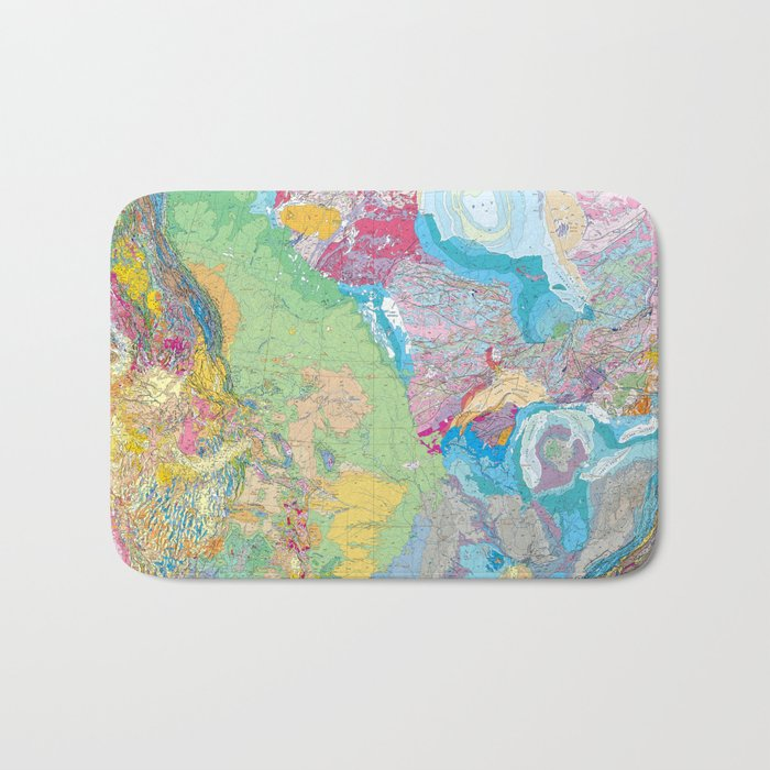 USGS Geological Map of North America Bath Mat