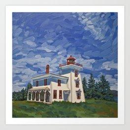Blockhouse Point Lighthouse, Prince Edward Island Art Print