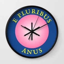 E Pluribus Anus Wall Clock