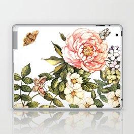 Vintage floral watercolor background Laptop & iPad Skin