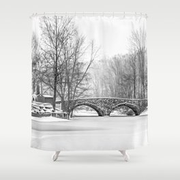 Stone Bridge Clove Lake Park Shower Curtain