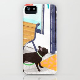 French Bulldog, Colorful, Paper Collage iPhone Case