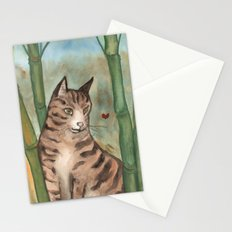 Tabby in the Bamboo Stationery Cards