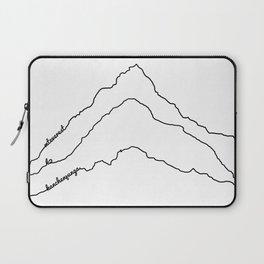 Tallest Mountains in the World B&W / Mt Everest K2 Kanchenjunga / Minimalist Line Drawing Art Print Laptop Sleeve
