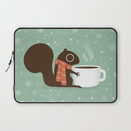 Cute Squirrel Coffee Lover Winter Holiday Laptop Sleeve