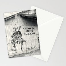Black & White/Sepia-toned Photograph of Cheatham Street Warehouse, San Marcos, Texas Stationery Cards