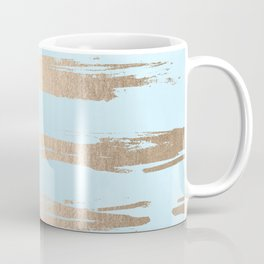 Abstract Paint Stripes Gold Tropical Ocean Sea Turquoise Coffee Mug