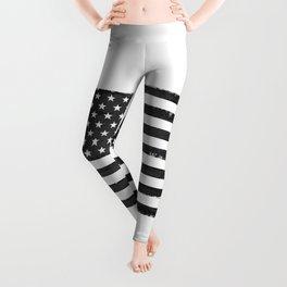Black american flag Leggings