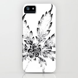 Black & White (Cannabis Resin Leaf) iPhone Case