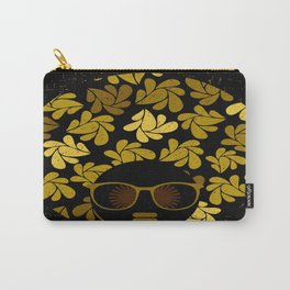 Afro Diva : Gold Carry-All Pouch