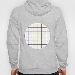 Window Panes, Navy and Cream Hoody