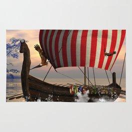 The  viking longship Rug