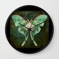 luna Wall Clocks featuring Luna  by DebS Digs Photo Art