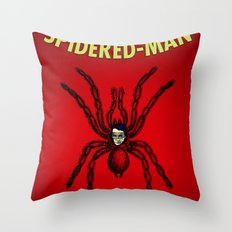 The Unmazing Spidered-Man Throw Pillow