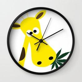 Feeling high Wall Clock