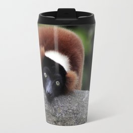 Red Ruffed Lemur Travel Mug