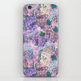 Purple and blue Lilac & Hydrangea - Flower Design iPhone Skin