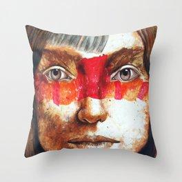 Angel Face Throw Pillow
