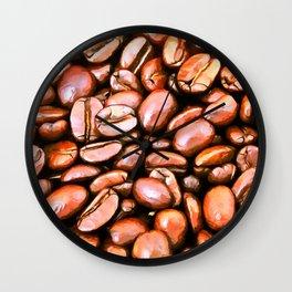 roasted coffee beans texture acrsat Wall Clock