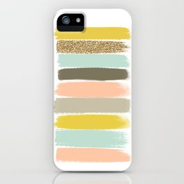 Madison - Brushstroke art print in modern colors bright and happy gifts for trendy girls iPhone Case
