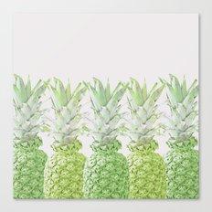 Pineapple Greenery Canvas Print