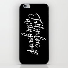 Fall in Love with Yourself iPhone & iPod Skin