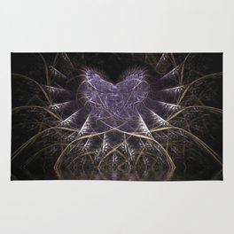 Purple Love Web Fractals Rug