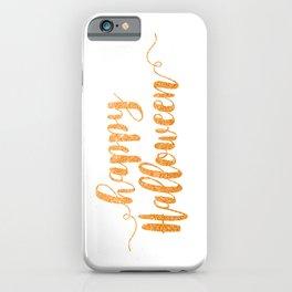 Happy Halloween | Orange Glitter iPhone Case