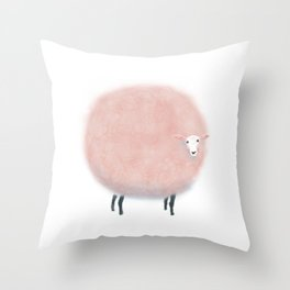 Sweet Dreams Cotton Candy Sheep Throw Pillow