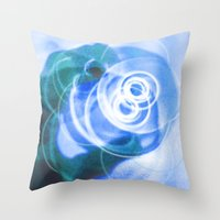 cup Throw Pillows featuring Cup by ONEDAY+GRAPHIC