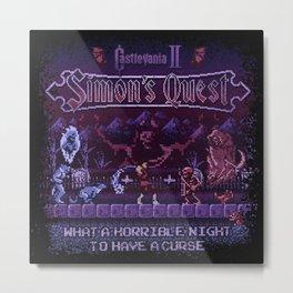 Simon's Vania Castle Quest Metal Print