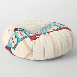 Wagon Wheel Bowling  Floor Pillow