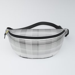 Gray and White Plaid Fanny Pack