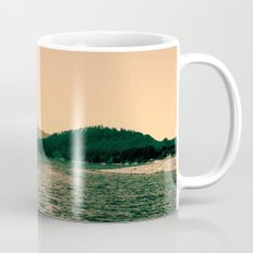 Sunsetting landscape photography of sky, lake and mountain. Mug
