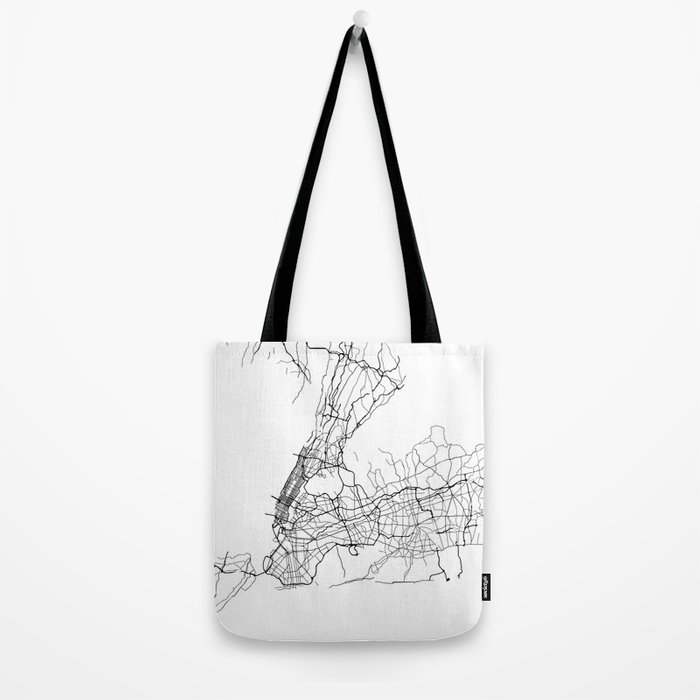 Minimal City Maps - Map Of New York, United States Tote Bag