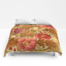 Fall Flowers Comforters